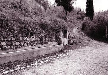 Trevi, l'antica strada di San Martino e la fonte di San Severino