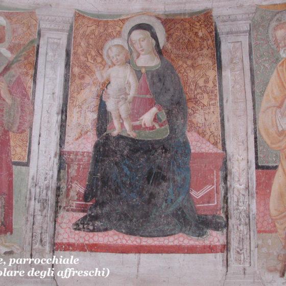 Trevi, Picciche, chiesa di Santo Stefano, affreschi dell'abside, particolare