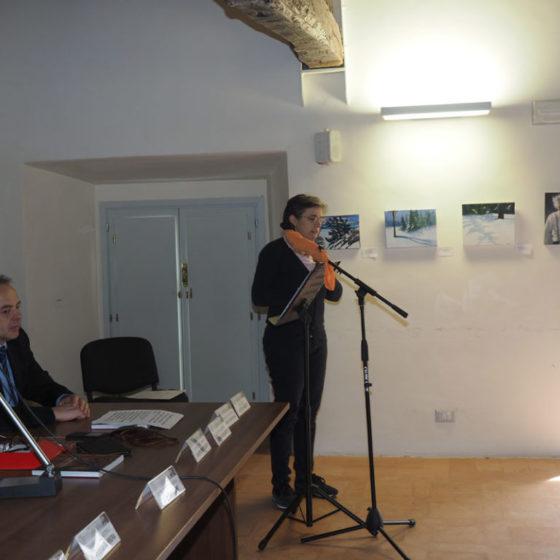 Presentazione di 'Patriarchi verdi. Itinerari in Valle Umbra' – palazzo Mauri, Spoleto, 12 marzo 2016. Vincenza Campagnani, Assessore del Comune di Spoleto ed ex Presidente della Comunità montana