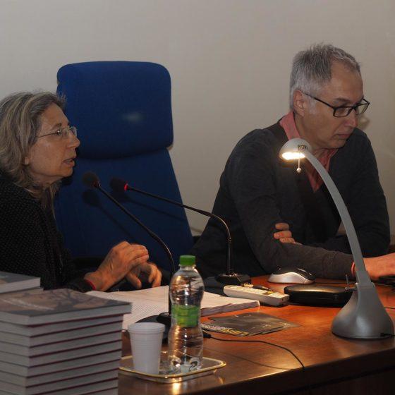 4 maggio 2016, presentazione del volume 'Patriarchi Verdi. Itinerari in Valle Umbra', Foligno, biblioteca Jacobilli (Tiziana Ravagli e Danilo Rapastella)