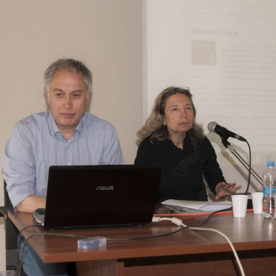 18 aprile 2015. Spoleto, palazzo Mauri. Presentazione 'Itinerari nella storia'. Relazionano Danilo Rapastella e Tiziana Ravagli