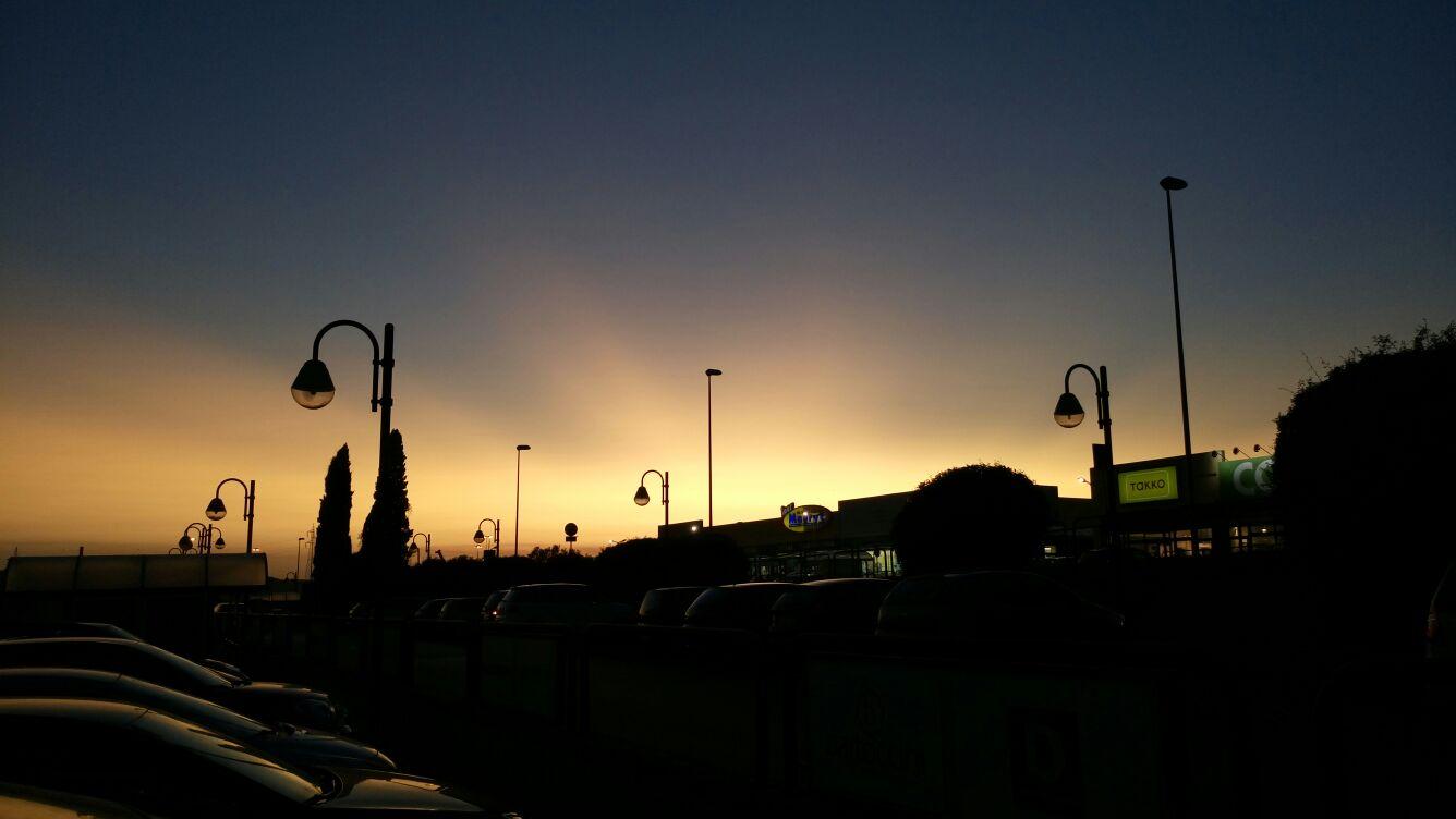 Un tramonto molto particolare in Valle Umbra